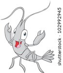 happy shrimp illustration | Shutterstock .eps vector #102992945