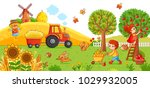 vector illustration on a... | Shutterstock .eps vector #1029932005