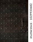 wooden door old and dark wooden ... | Shutterstock . vector #1029933682