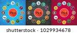 quiz flat icon concept. vector... | Shutterstock .eps vector #1029934678