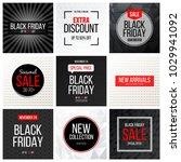 seasonal sale banner. black...   Shutterstock .eps vector #1029941092