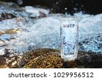 a transparent glass glass with... | Shutterstock . vector #1029956512