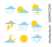 set of climate  change clouds... | Shutterstock .eps vector #1029957292