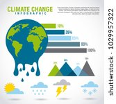 climate change infographic... | Shutterstock .eps vector #1029957322
