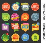 sale stickers and tags colorful ... | Shutterstock .eps vector #1029968302