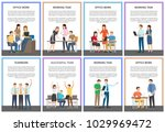 office work and working task ... | Shutterstock .eps vector #1029969472