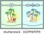 framed vector illustrations... | Shutterstock .eps vector #1029969595