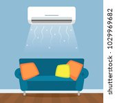 modern living room with sofa... | Shutterstock .eps vector #1029969682