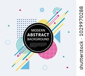 modern abstract circle colorful ... | Shutterstock .eps vector #1029970288