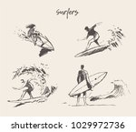 collection of sketches of the... | Shutterstock .eps vector #1029972736