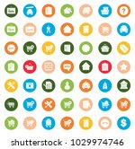 real estate icons | Shutterstock .eps vector #1029974746