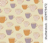 vintage seamless pattern with...   Shutterstock .eps vector #1029975472