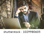 worried about account. too much ... | Shutterstock . vector #1029980605