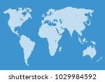 dotted abstract world map   Shutterstock .eps vector #1029984592
