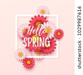 colorful spring background with ... | Shutterstock .eps vector #1029987616