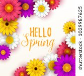 colorful spring background with ... | Shutterstock .eps vector #1029987625
