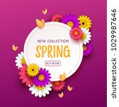 colorful spring background with ... | Shutterstock .eps vector #1029987646