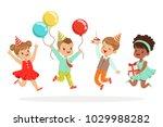 little children birthday... | Shutterstock .eps vector #1029988282
