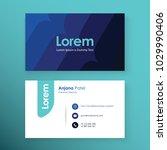 business card template.... | Shutterstock .eps vector #1029990406
