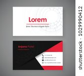 business card template.... | Shutterstock .eps vector #1029990412