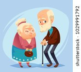 senior lady and gentleman with... | Shutterstock .eps vector #1029991792