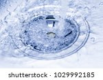 a stream of clean water flowing ... | Shutterstock . vector #1029992185