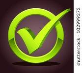 check list symbol   vector... | Shutterstock .eps vector #102999272