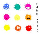 collection of colorful paint...   Shutterstock .eps vector #1029994426