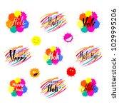 set of hand written holi quotes ...   Shutterstock .eps vector #1029995206
