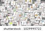 scattered images of cartoon... | Shutterstock . vector #1029995722