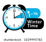winter time. daylight saving... | Shutterstock . vector #1029995782