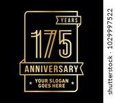 175th anniversary logo. vector... | Shutterstock .eps vector #1029997522