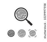 fingerprint icon.symbol for... | Shutterstock .eps vector #1029997558