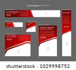 six web banners standard sizes... | Shutterstock .eps vector #1029998752