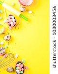 sweet baking concept for easter ... | Shutterstock . vector #1030003456