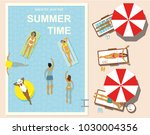 pool party. background for a... | Shutterstock .eps vector #1030004356