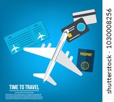 travel banner design. vacation... | Shutterstock .eps vector #1030008256