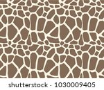 giraffe skin seamless vector... | Shutterstock .eps vector #1030009405