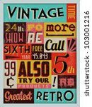retro vintage background with... | Shutterstock .eps vector #103001216