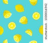 lemons seamless pattern. vector ...   Shutterstock .eps vector #1030016542