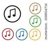 music notes icon color set...   Shutterstock . vector #1030016716