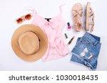stylish  trendy feminine... | Shutterstock . vector #1030018435