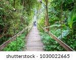 suspension bridge of betong | Shutterstock . vector #1030022665