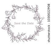 handdrawn wreath made in vector....   Shutterstock .eps vector #1030022908