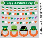 st. patricks day leprechaun... | Shutterstock .eps vector #1030022932