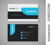 modern business card template... | Shutterstock .eps vector #1030023286