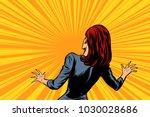 frightened woman back  human... | Shutterstock .eps vector #1030028686