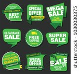 sale stickers and tags vector... | Shutterstock .eps vector #1030030375
