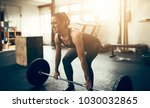 fit young woman in sportswear... | Shutterstock . vector #1030032865