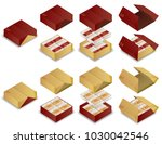 3d chinese moon cake package... | Shutterstock .eps vector #1030042546